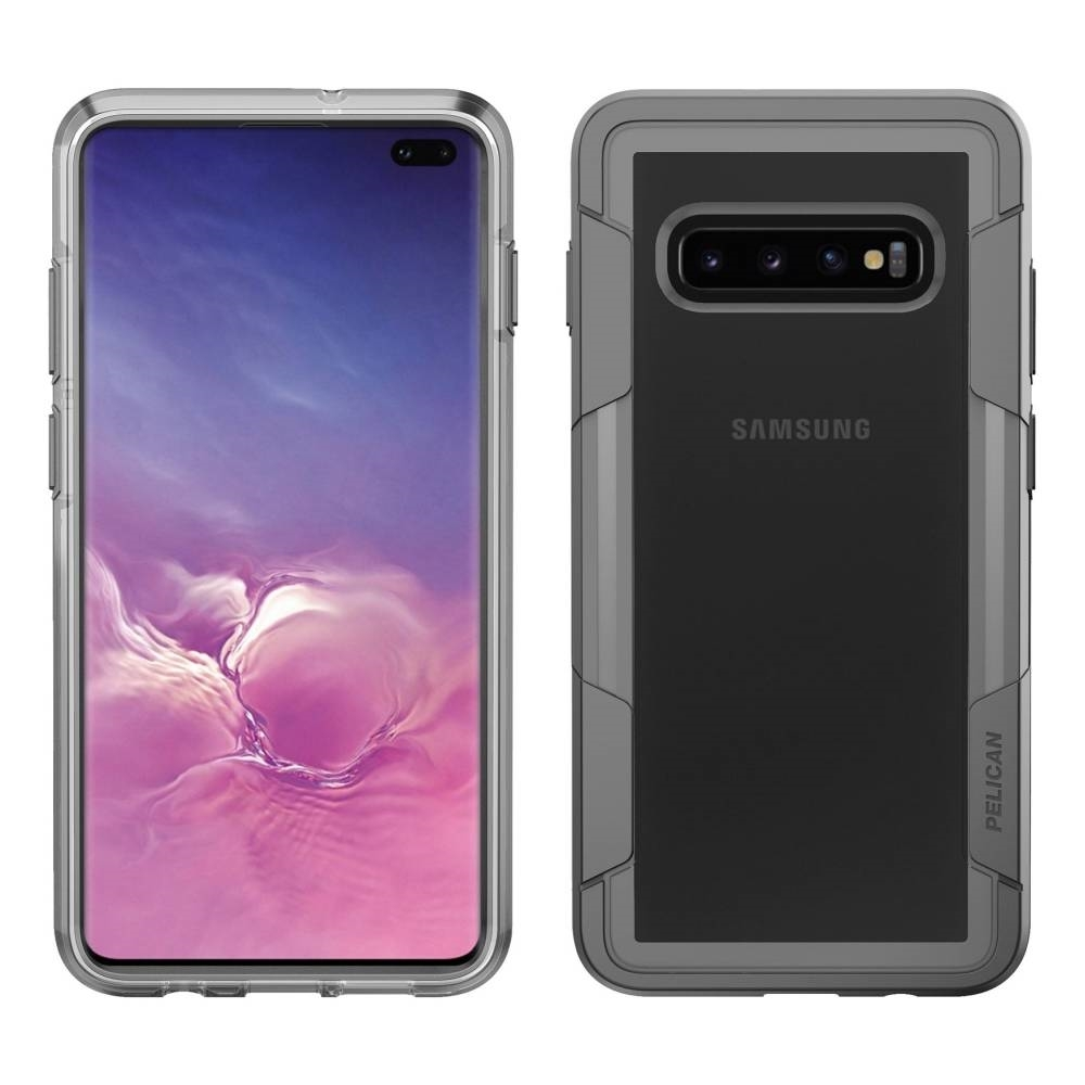 save off 41b4f 441d9 Details about Genuine Pelican Voyager case for Samsung Galaxy S10+ Plus -  Clear/Grey